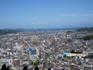 松山城北方向風景写真