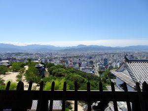 松山城南方向風景写真