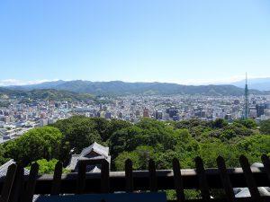 松山城東方向風景写真