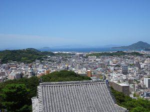 松山城西方向風景写真