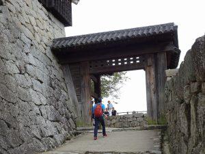 松山城戸無し門写真