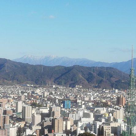 冬の石鎚山です