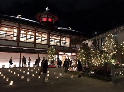 道後温泉今年も明かりのイベント開催しています